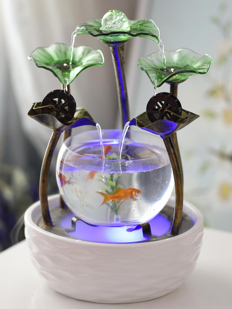 家居小型客厅鱼缸流水,走心创意生日礼物