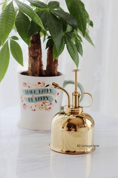 80 vintage time exported to Europe retro brass copper Nordic home gardening small watering can