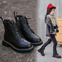 На девочку берцы 2019 новая коллекция зимний замшевый винтаж из натуральной кожи ботинки Суб снег осень-зима стиль детские башмак