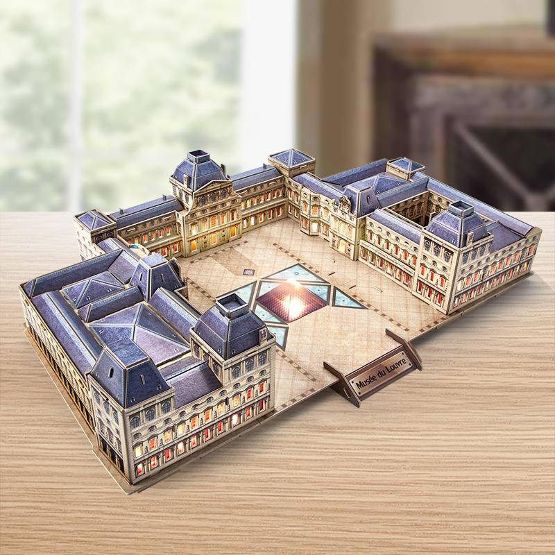 CubicFun 乐立方 卢浮宫博物馆LED仿真模型3D立体拼图
