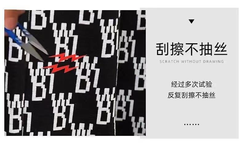 中國代購|中國批發-ibuy99|宝娜斯2021夏季新款字母印花直筒裤子女港风宽松显瘦休闲阔腿裤kt