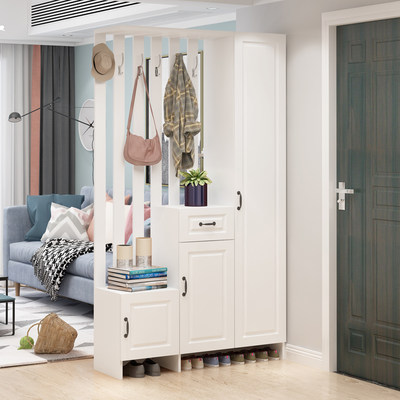 Entry porch cabinet living room partition cabinet decorative wine cabinet against the wall simple and modern entrance screen Nordic shoe cabinet integrated