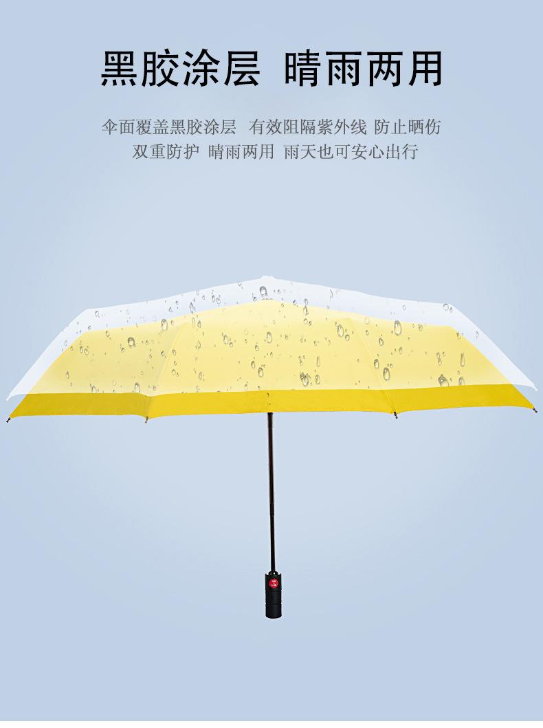 雨傘紅色傘架全自動折疊雨傘男潮個性創意男士學生帥氣遮陽傘晴雨兩用雨衣