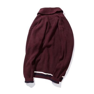 PMAO cộng với size áo len đỏ nam len áo len nam chất béo áo len lỏng và áo len tăng mỡ - Áo len