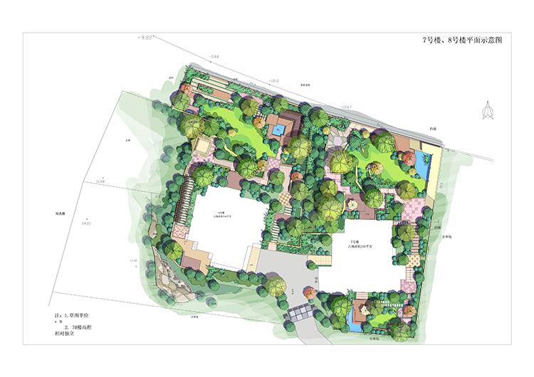 园林景观PS彩色总平面图案笔刷立面填充植物铺装psd分层设计素材插图(18)