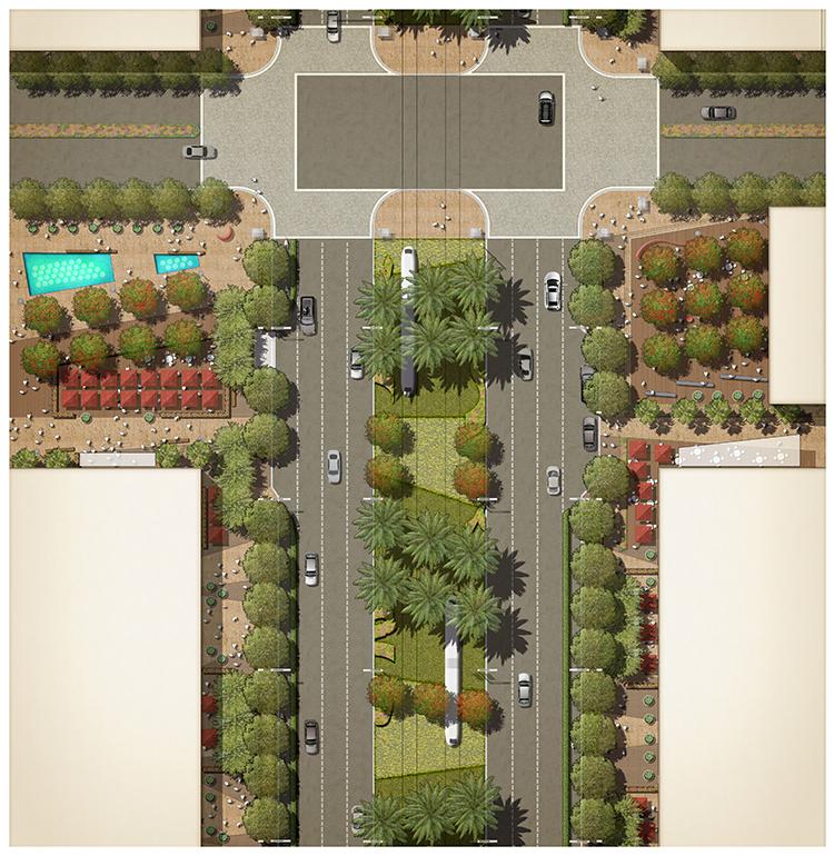 园林景观PS彩色总平面图案笔刷立面填充植物铺装psd分层设计素材插图(21)