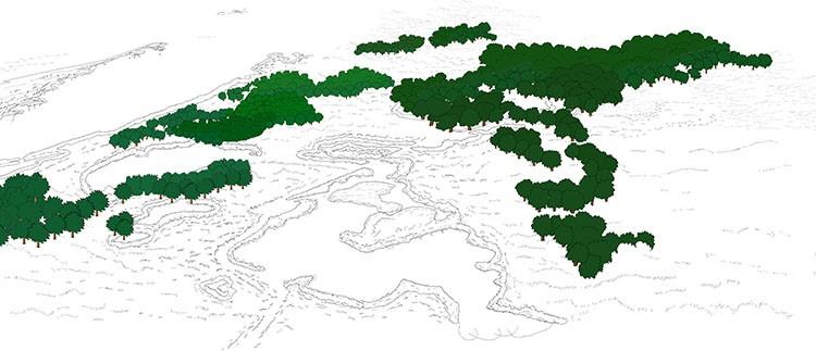 园林景观PS彩色总平面图案笔刷立面填充植物铺装psd分层设计素材插图(27)