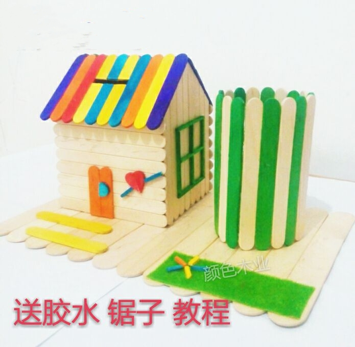 Creative Ice Cream Stick Popsicle Stick Diy Handmade Small