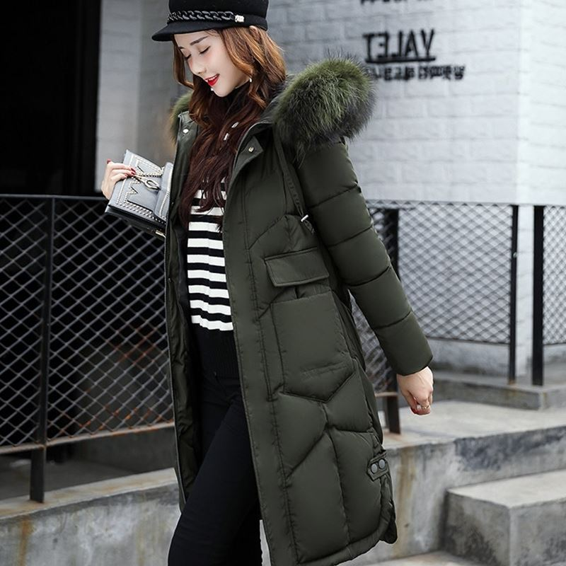 Anti-season stock foreign trade cotton long cotton 袄 women's fur collar cotton clothes plaza stall clothing store store to collect goods wholesale