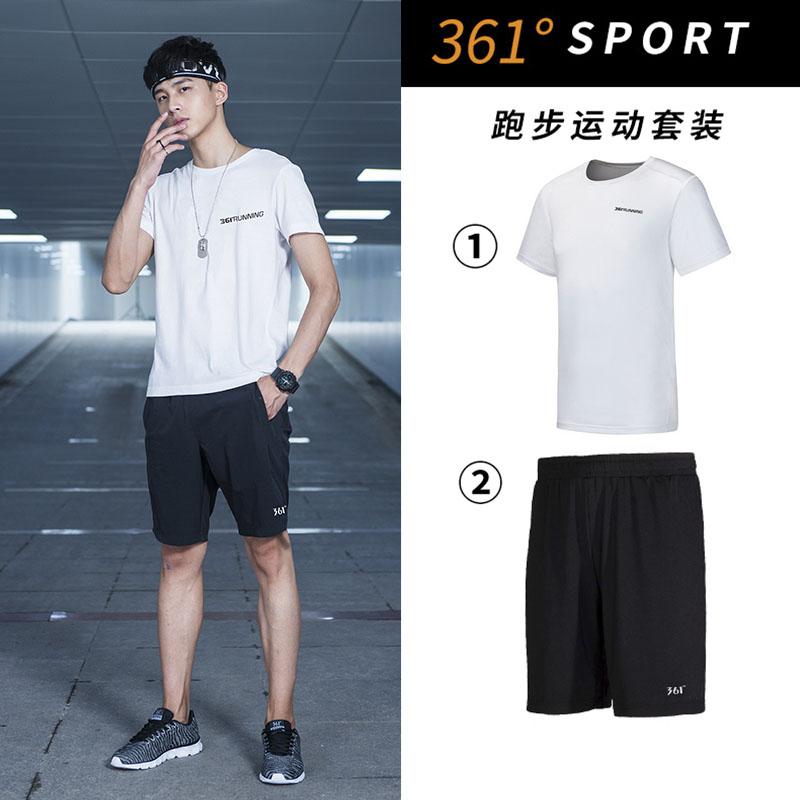 361 độ của nam giới thể thao mùa hè 361 thể thao cổ tròn ngắn tay T-Shirt giản dị năm-quần quần short nam