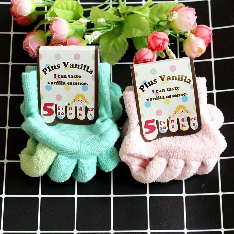 纯棉露趾分趾拇指袜女瑜伽v纯棉五指外翻矫正保健按摩袜包邮