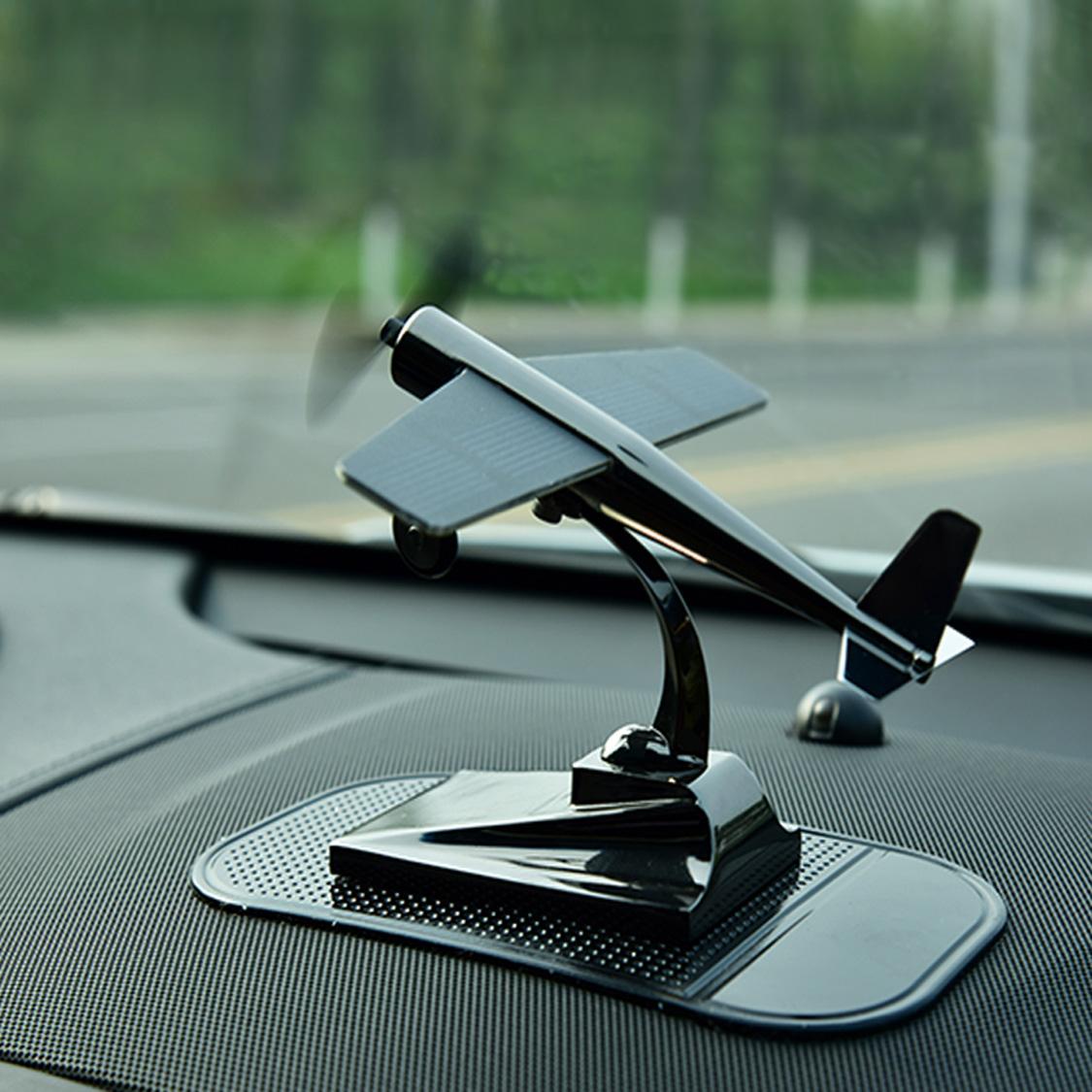 创意大全上摆件太阳能中控台汽车车载个性男车内饰品装饰用品飞机