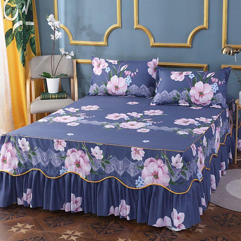 防滑床裙单件床套韩式床罩床套床笠保护套
