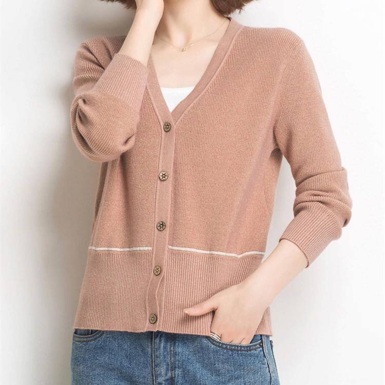 希哥弟思官网秋季新款外搭薄款针织小短款羊毛女外套毛衣开衫女