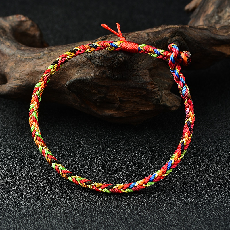 Mika 2020 new multicolored rope bracelet year of life hand rope pure hand weaving