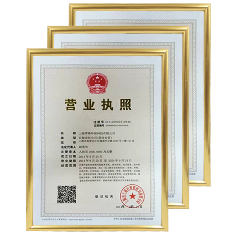 Industry and Commerce New Business License Frame Triple Wall Plastic ...