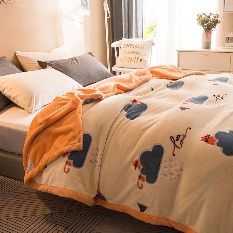 北极绒珊瑚绒毯子冬季加厚保暖毛毯被子法兰绒床单人宿舍学生午睡