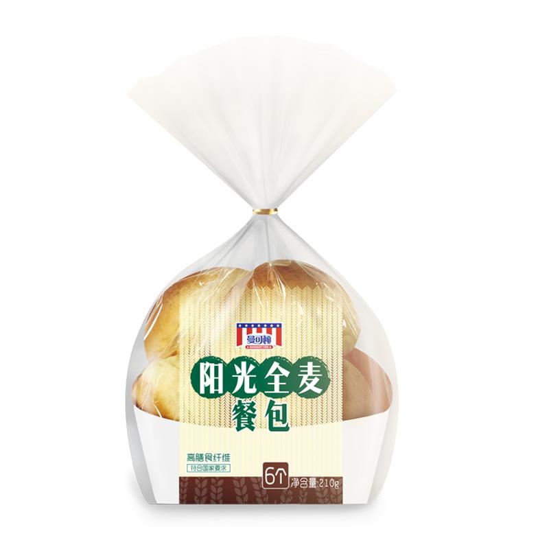 曼可顿全麦阳光小餐包粗粮早餐下午茶零食【7天保质期】480g包邮
