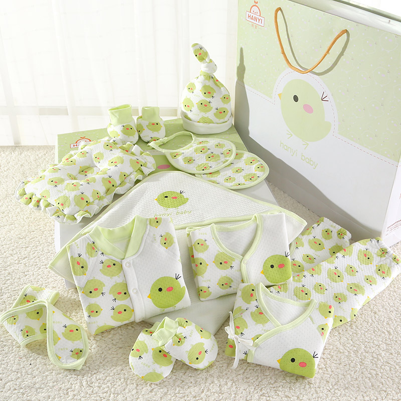 4d575e6e0e23 Baby clothes spring cotton suit newborn gift box 0-3 months spring and  autumn 6