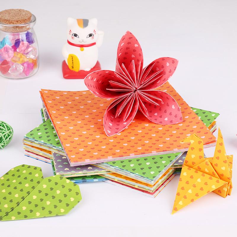 3 Packs Of Effective Color Handmade Paper Children Diy Folding Flower