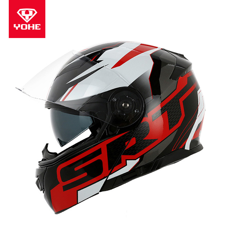 Eternity YOHE double lens unveiling helmet helmet men's and women's summer full helmet full-cover locomotive helmet