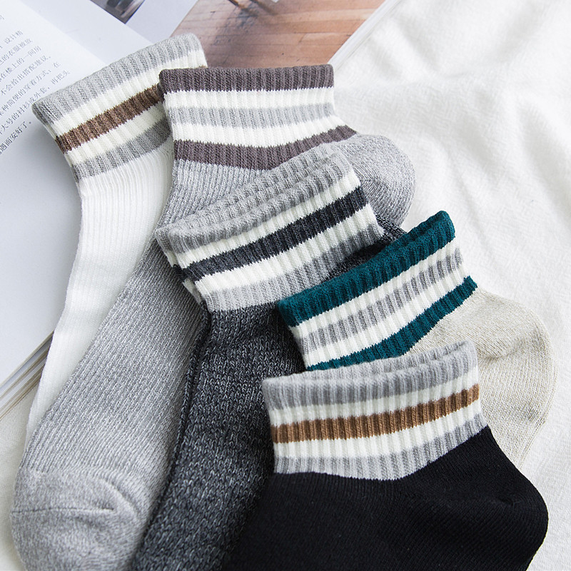 Socks men's mid-season socks summer thin socks shallow mouth ins tidal cotton anti-smell breathing breathless movement low gang.