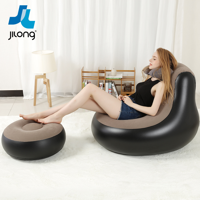 USD 40.59] JI Long Lazy Leisure Inflatable Sofa Chair Sofa Cute