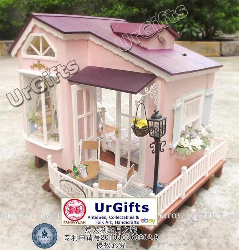 Dollhouse Miniature DIY Kit W/ Light Italy HoneyMoon