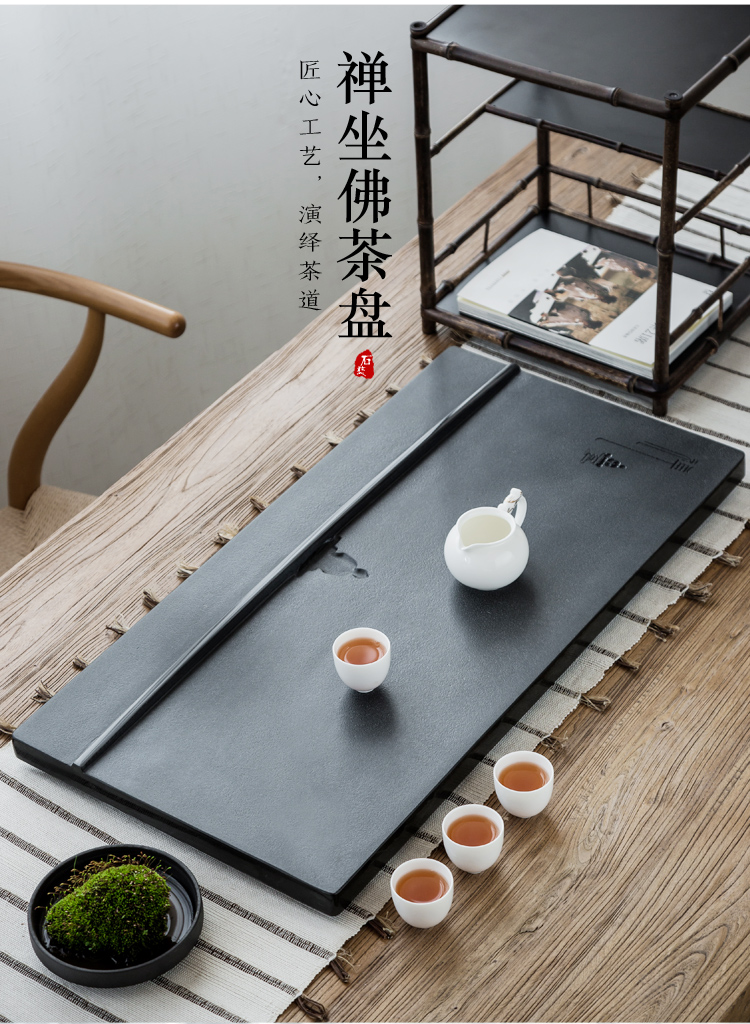 In building natural stone sea sharply stone tea tray was stone tea sets the whole household contracted tea set