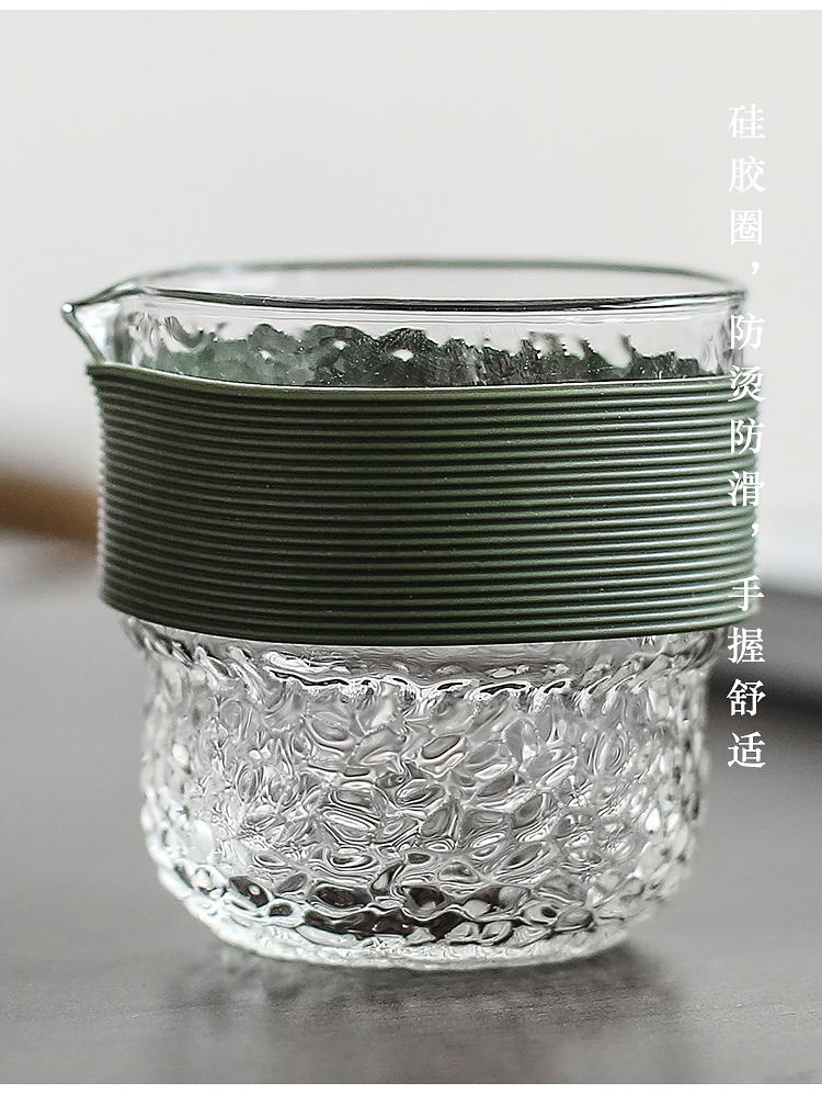 In building glass teapot Japanese travel tea set suit portable kung fu tea cups a pot of 22 crack cup