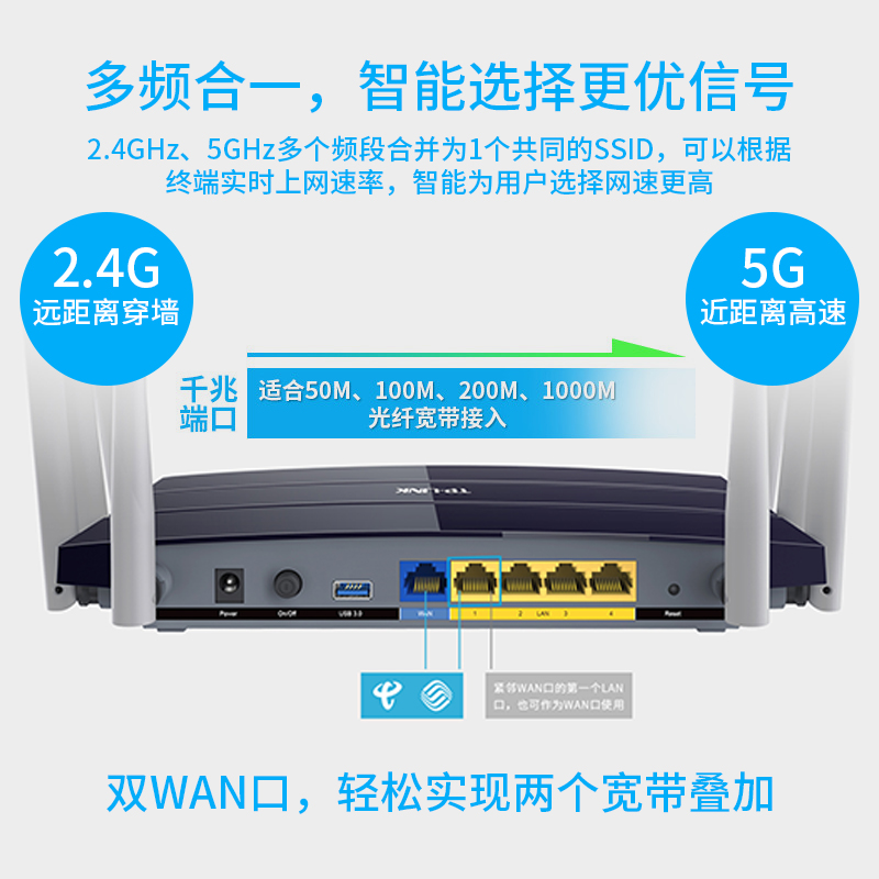 TP-LINK AC2600M dual-frequency wireless router home high