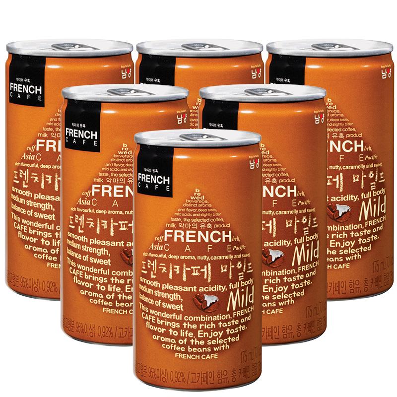 提神醒脑!韩国进口 南阳乳业 即饮咖啡 175ml*6罐