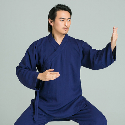 Tai Chi clothing men's clothing linen exercise clothes women's robes costumes oblique collar suits performance martial arts clothing