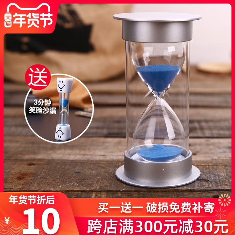 Hourglass timer children drop Time sand bottle 30 60 Minutes half an hour gift personalized creative ornaments