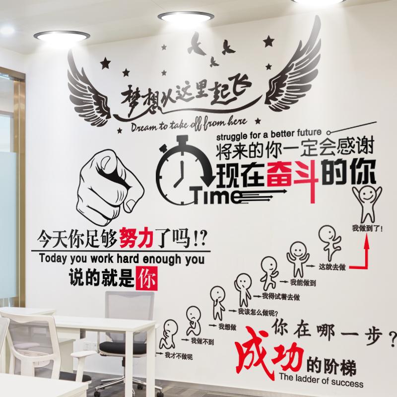 教室布置标语励志墙贴纸办公室班级文化宿舍自粘墙纸高三装饰激励
