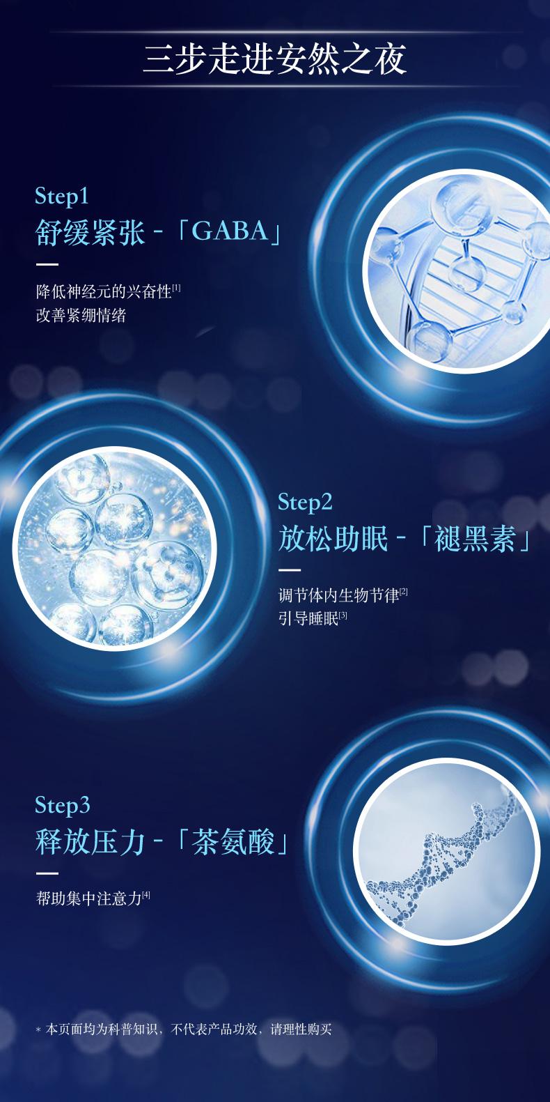 陈伟霆同款GNC小魔瓶3D睡眠饮30ml6瓶褪黑素睡眠水舒缓焦虑茶氨酸 营养产品 第3张