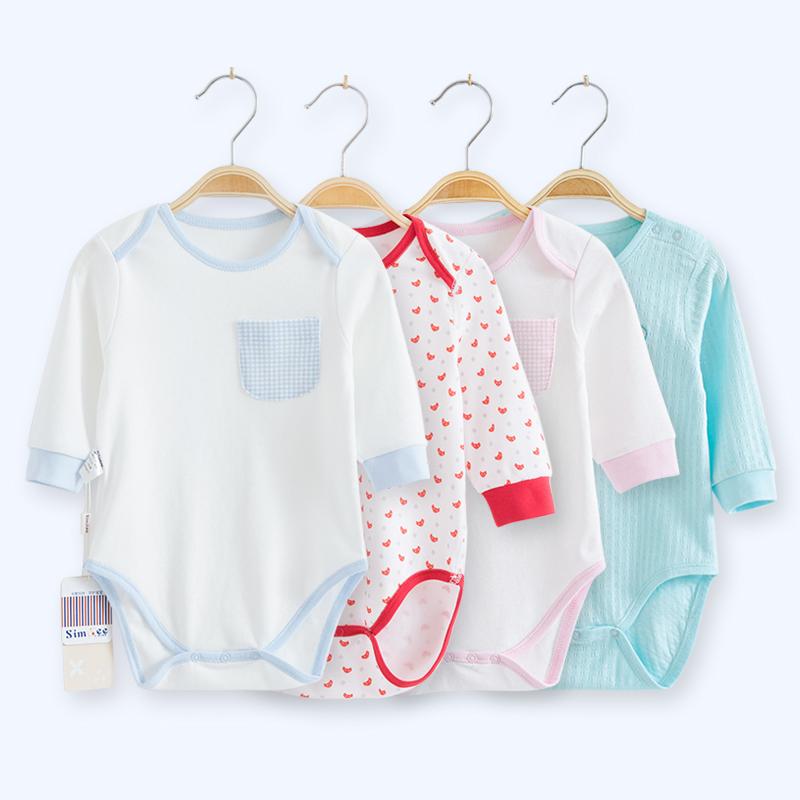 象比家族婴儿衣服包屁衣新生儿衣服婴儿三角哈衣长袖连体衣睡衣_领取20元天猫超市优惠券