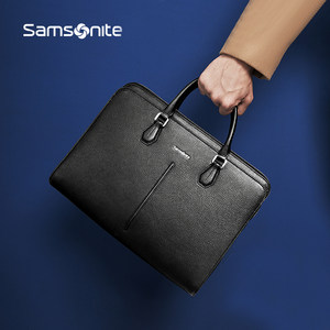 Samsonite/新秀丽公文包男士文件包手提包商务包男包横款皮包68B