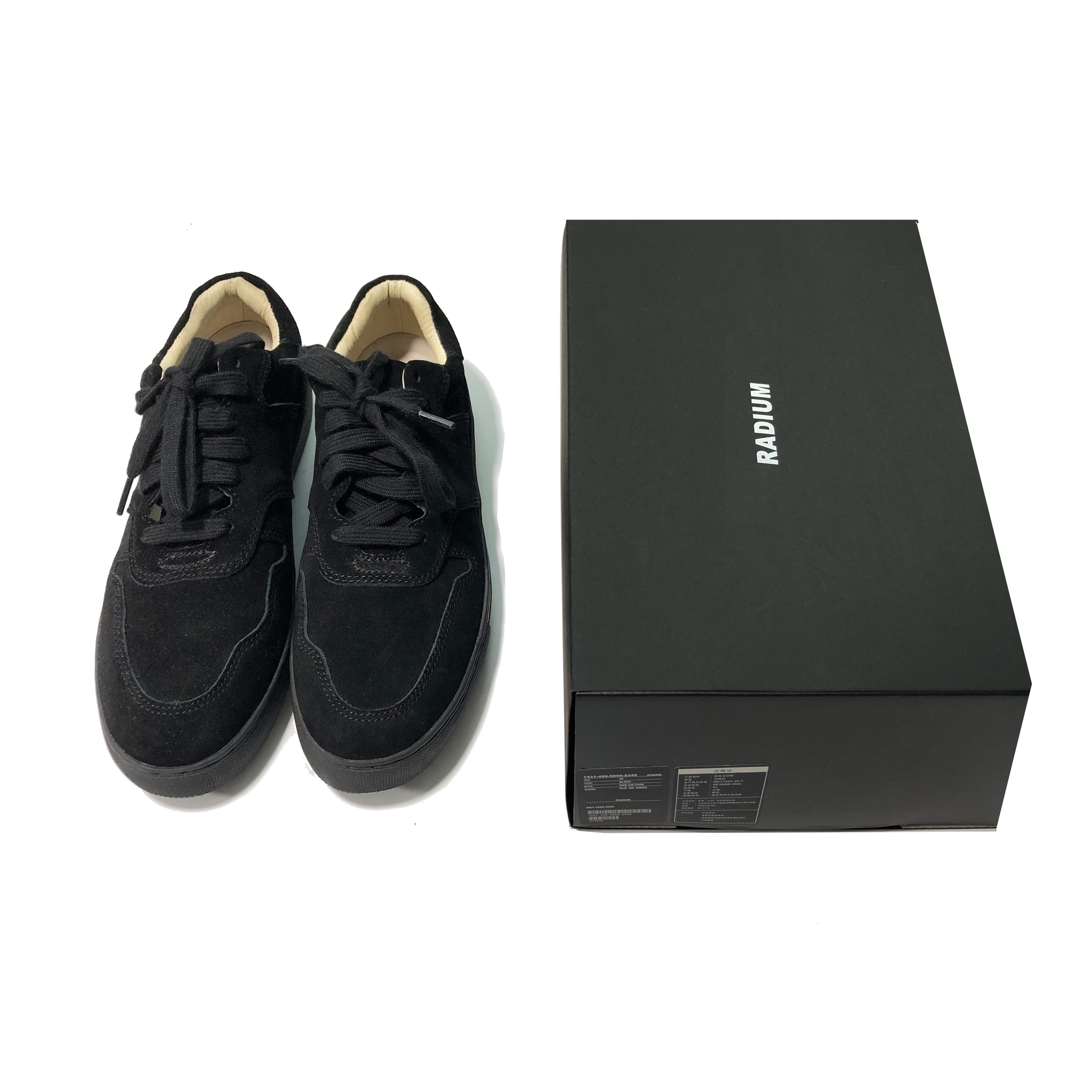 RADIUM韩国潮牌休闲运动真皮日本日系板鞋男鞋绒余文乐麂皮小黑鞋