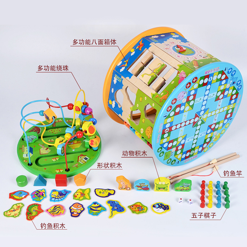 Baby Children S Toys 6 12 Months Puzzle Blocks 1 2 3 Years Old Boys