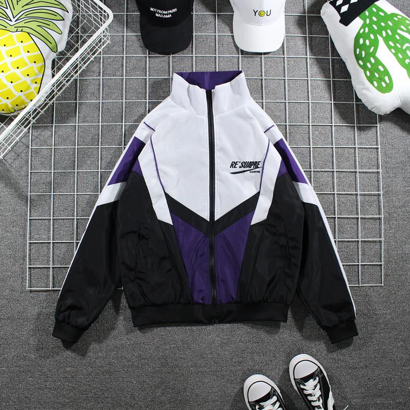 Tide thương hiệu hit màu drop vai loose áo gió Mỹ hip hop cao đường phố áo khoác tấn công mùa xuân và mùa thu vài áo thể thao phần mỏng