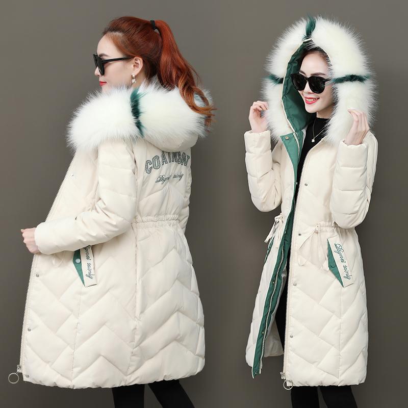 反季2019新款羽绒棉衣女外套冬季韩版收腰修身棉服中长款加厚棉袄