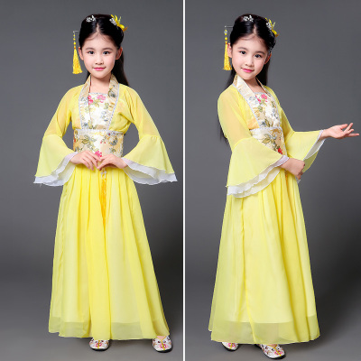 Children's costume costumes, girls, ancient costumes, fairy dresses, pupil, Chinese clothing, girls' Hanfu.