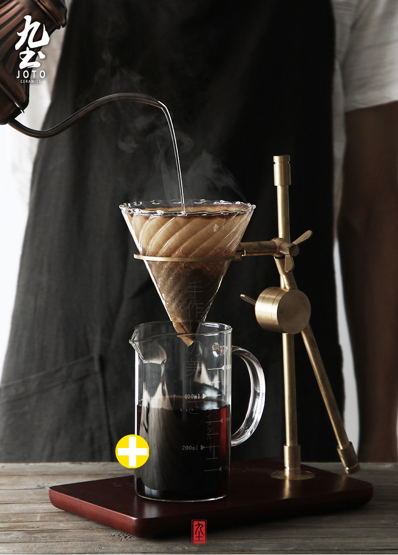 About Nine soil its its V60 coffee powder, ceramic glass filter paper without bleaching color filter hand a cup of drip type filter paper