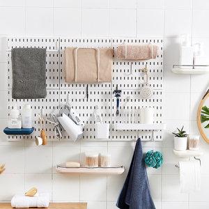 免打孔墙上浴室角架置物架客厅卧室北欧简约壁挂塑料洞洞板收纳架
