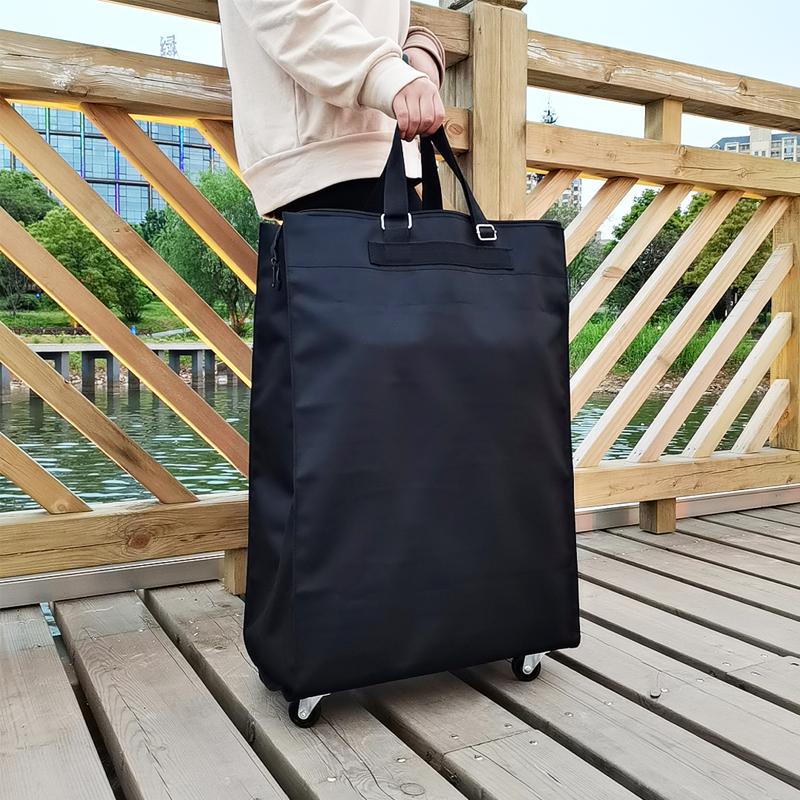 拖轮购物袋牛津布便携可折叠行李袋万向轮买菜包超市环保袋大容量