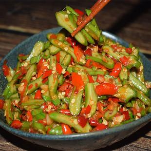 湖南特产刀豆剁辣椒泡菜罐装