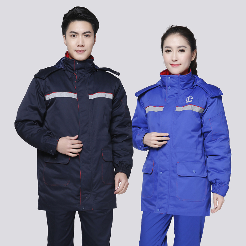 [USD 81.35] Gas station Overalls winter cotton padded