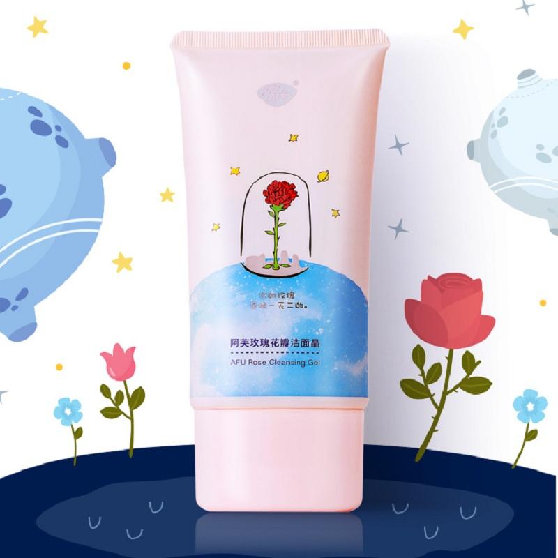【预售】阿芙小王子玫瑰花瓣洁面晶 深层温和清洁保湿洗面奶女男