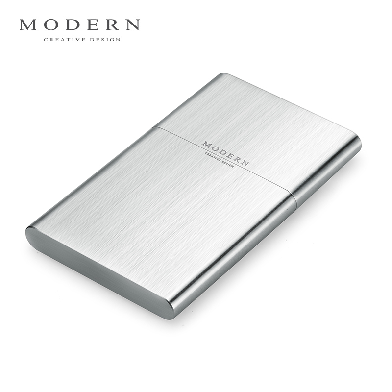 USD 3.93] Modern thin stainless steel business card holder business ...